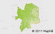 Physical Map of Kara, cropped outside