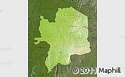 Physical Map of Kara, darken
