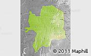 Physical Map of Kara, desaturated