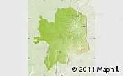 Physical Map of Kara, lighten