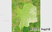 Physical Map of Kara, satellite outside