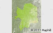 Physical Map of Kara, semi-desaturated
