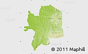 Physical Map of Kara, single color outside