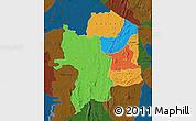 Political Map of Kara, darken