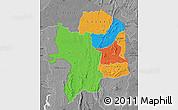 Political Map of Kara, desaturated