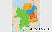 Political Map of Kara, lighten