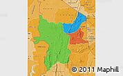 Political Map of Kara, political shades outside