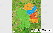 Political Map of Kara, satellite outside