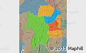 Political Map of Kara, semi-desaturated