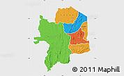 Political Map of Kara, single color outside