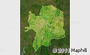 Satellite Map of Kara, darken
