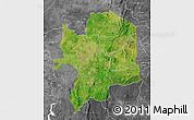 Satellite Map of Kara, desaturated