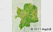 Satellite Map of Kara, lighten