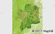 Satellite Map of Kara, physical outside