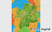 Satellite Map of Kara, political outside