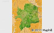 Satellite Map of Kara, political shades outside