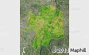 Satellite Map of Kara, semi-desaturated