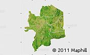 Satellite Map of Kara, single color outside