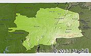 Physical Panoramic Map of Kara, darken