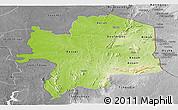 Physical Panoramic Map of Kara, desaturated