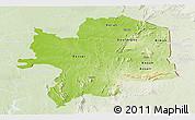 Physical Panoramic Map of Kara, lighten