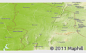 Physical Panoramic Map of Kara