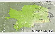Physical Panoramic Map of Kara, semi-desaturated
