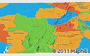 Political Panoramic Map of Kara