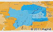 Political Shades Panoramic Map of Kara