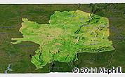 Satellite Panoramic Map of Kara, darken