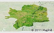 Satellite Panoramic Map of Kara, lighten
