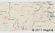 Shaded Relief Panoramic Map of Kara