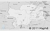 Silver Style Panoramic Map of Kara