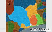Political Map of Maritime, darken