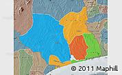 Political Map of Maritime, semi-desaturated