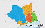 Political Map of Maritime, single color outside