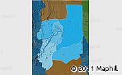 Political Shades 3D Map of Plateaux, darken