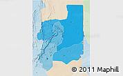 Political Shades 3D Map of Plateaux, lighten