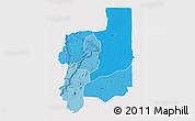 Political Shades 3D Map of Plateaux, single color outside