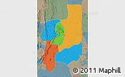 Political Map of Plateaux, semi-desaturated