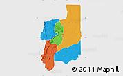 Political Map of Plateaux, single color outside