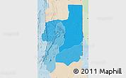Political Shades Map of Plateaux, lighten