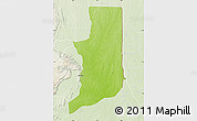 Physical Map of Ogou, lighten