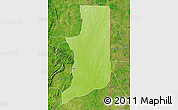 Physical Map of Ogou, satellite outside