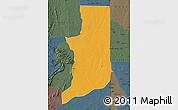 Political Map of Ogou, darken, semi-desaturated