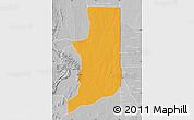 Political Map of Ogou, lighten, desaturated