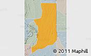 Political Map of Ogou, lighten, semi-desaturated
