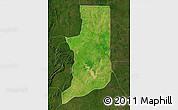 Satellite Map of Ogou, darken