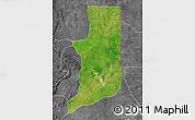 Satellite Map of Ogou, desaturated