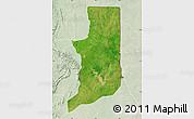 Satellite Map of Ogou, lighten